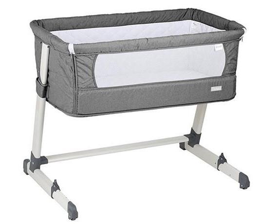 BabyGo – Patut co-sleeper 2 in 1 Together Grey 0