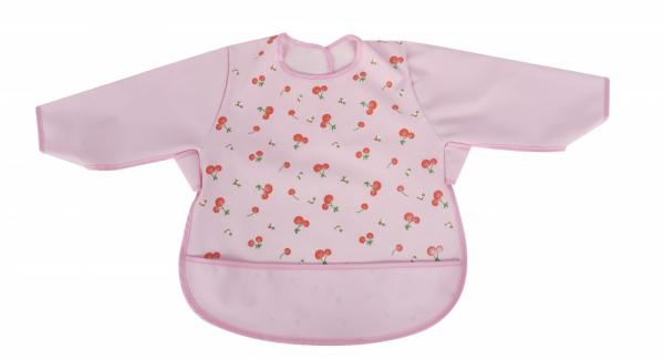 Baveta impermeabila cu maneci lungi Sevi Baby Roz [0]