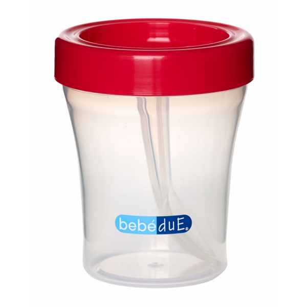 Biberon din silicon 120 ml cu lingurita BebeduE 80168 1