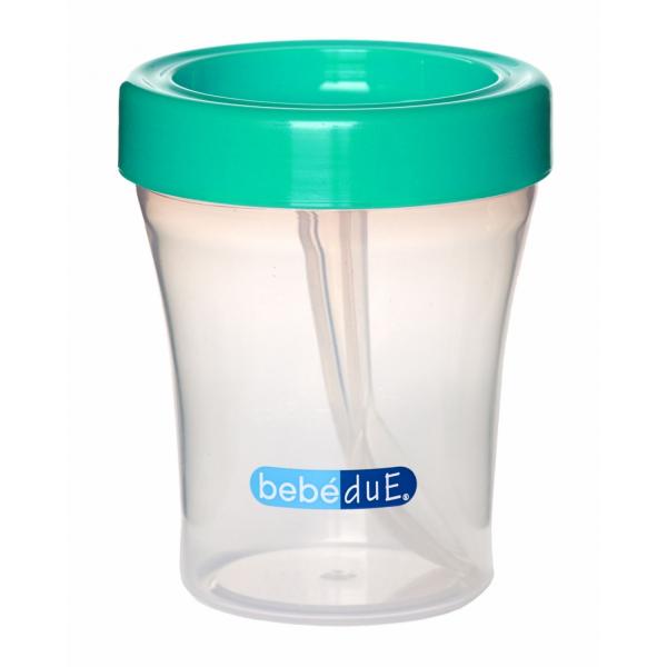 Biberon din silicon 230 ml cu lingurita BebeduE 80169 [1]