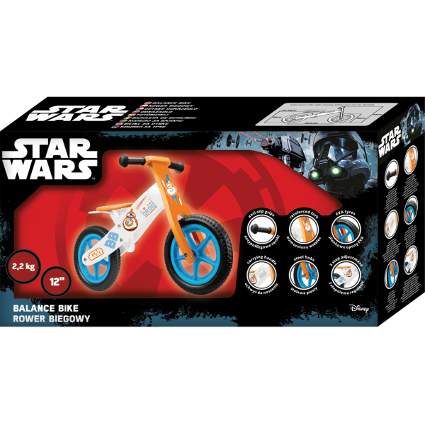 Bicicleta din lemn fara pedale 12 Star Wars Seven SV9911 1
