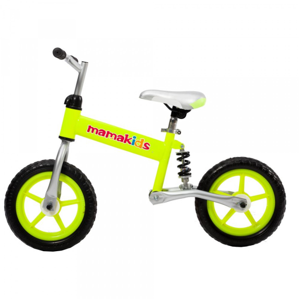 Bicicleta fara pedale 12 inch Hit Mamakids - Verde 0