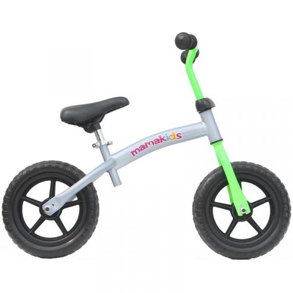 Bicicleta fara pedale transformabila 12 inch - Mamakids - Gri cu Verde [2]