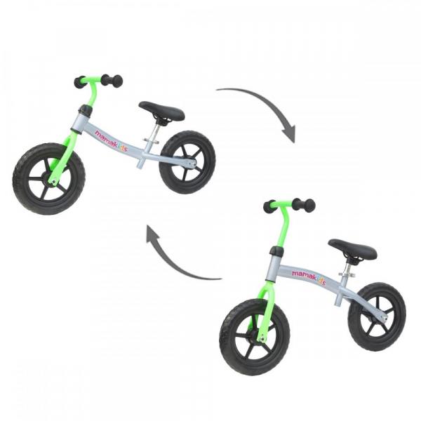 Bicicleta fara pedale transformabila 12 inch - Mamakids - Gri cu Verde [1]