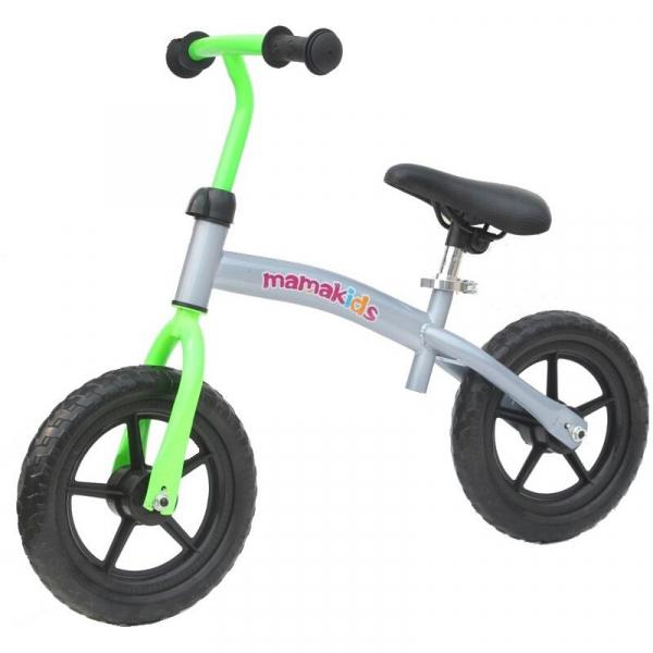 Bicicleta fara pedale transformabila 12 inch - Mamakids - Gri cu Verde [3]