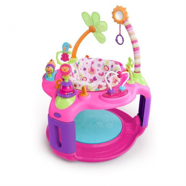 Bright Starts - Centru De Activitati Sweet Safari Bounce-A-Round 0