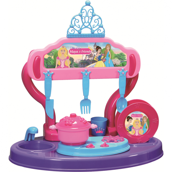 Bucatarie copii 15 piese Princess Maya and Friends Ucar Toys UC126 0