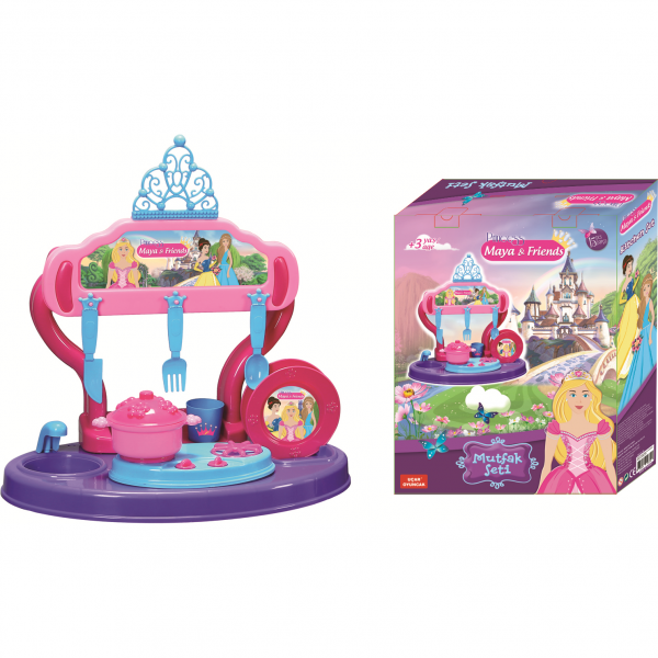 Bucatarie copii 15 piese Princess Maya and Friends Ucar Toys UC126 1