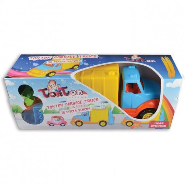 Camion pentru gunoi 48 cm cu 38 piese constructie Ucar Toys UC86 3