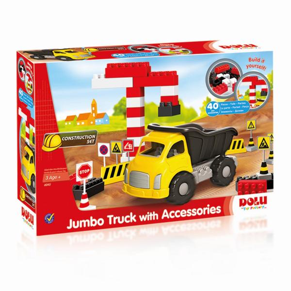 Camion si cuburi de construit - 40 piese 0