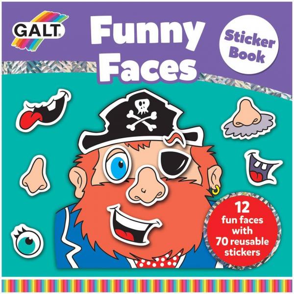 Carte cu abtibilduri Funny Faces 0