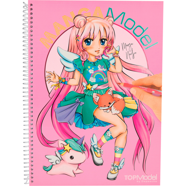 Carte de colorat + stickere Manga Model Depesche PT6581 0