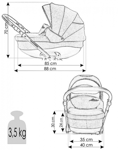Carucior bebelusi 3 in 1 Bexa Ultra Pastel Navy 8