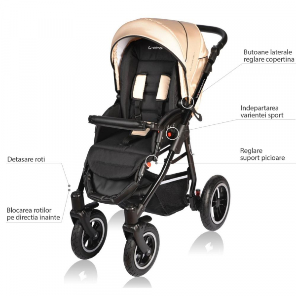 Carucior Crooner 2 in 1 - Vessanti - Cream 6