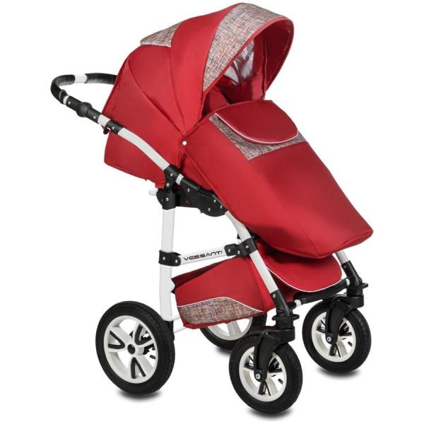 Carucior Flamingo Easy Drive 3 in 1 - Vessanti - Red 1