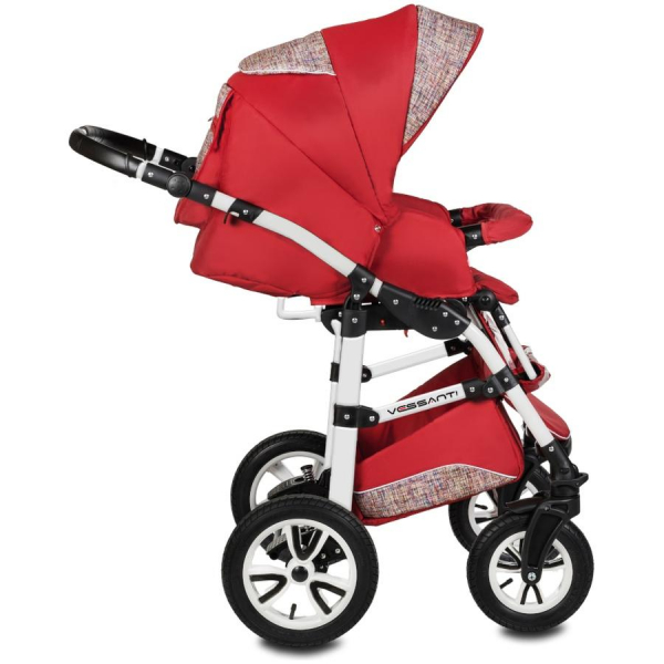 Carucior Flamingo Easy Drive 3 in 1 - Vessanti - Red 3