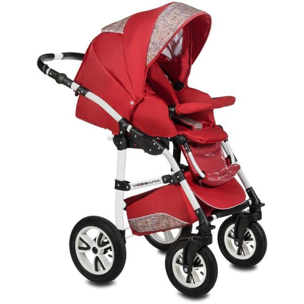 Carucior Flamingo Easy Drive 3 in 1 - Vessanti - Red 2
