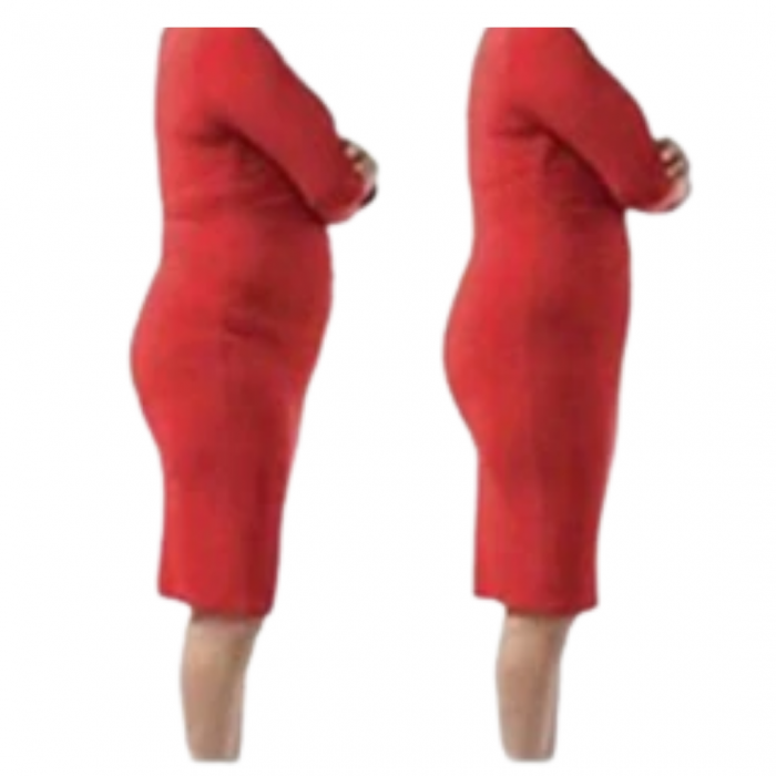 Chilot tanga modelator 2 in 1 postnatal cu talie inalta Brown Rose Girl  BebePrice 2