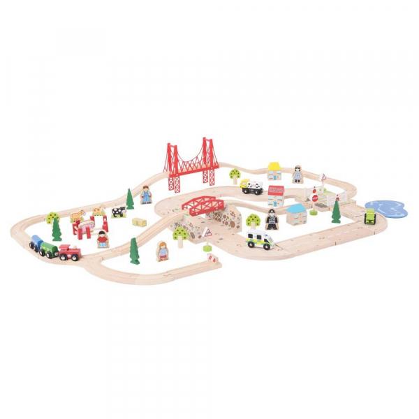 Circuit auto si feroviar (80 piese) 2