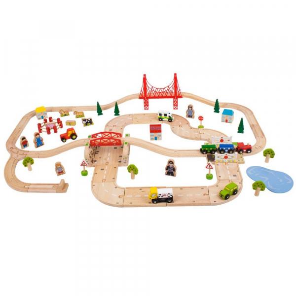 Circuit auto si feroviar (80 piese) 0