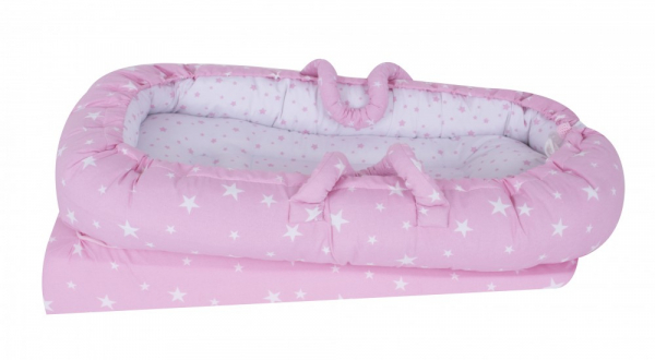 Co-sleeper anti-reflux Nest Pink Stars Sevibaby 0