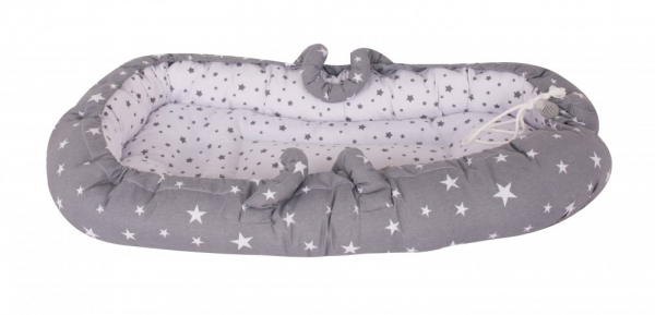 Co-sleeper Nest Grey Stars Sevibaby 0