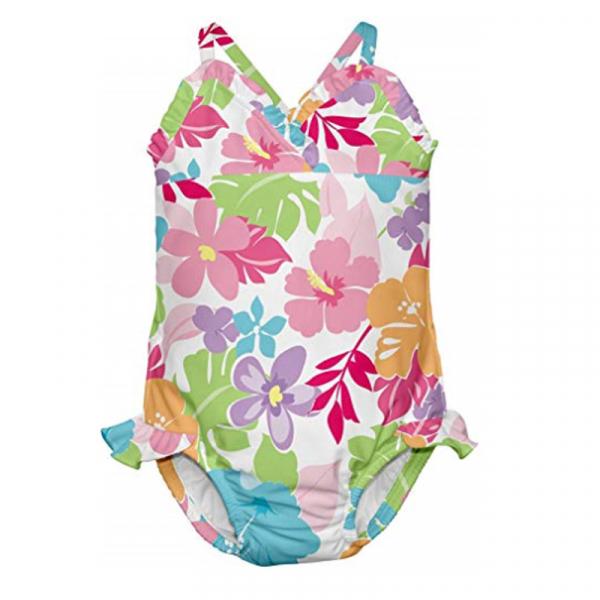 Costum de baie fetita cu scutec inot integrat IPlay Multicolor 18 luni SPF50+ 0