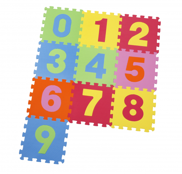 Covor puzzle din spuma Numbers 10 piese 0