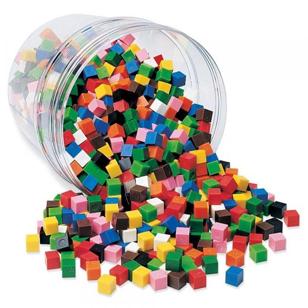 Cuburi multicolore (1cm) 0