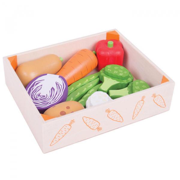 Cutiuta cu legume din lemn 1
