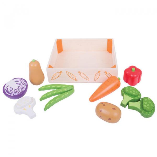 Cutiuta cu legume din lemn 3