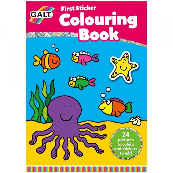 Early Activities: Prima carte de colorat cu abtibilduri 1