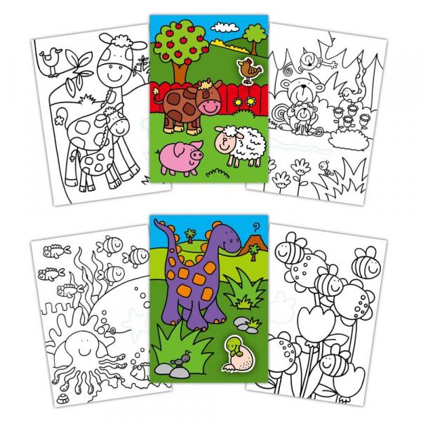 Early Activities: Prima carte de colorat cu abtibilduri 0