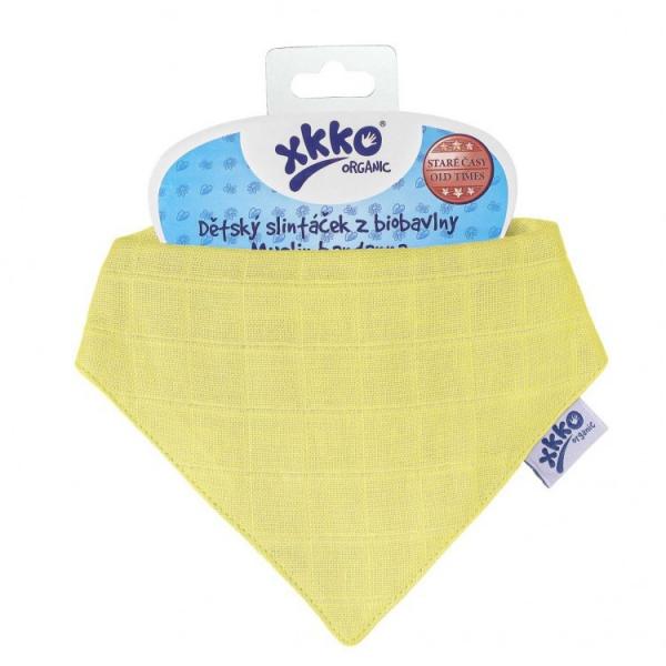 Esarfa din bumbac organic Wax Yellow XKKO 0