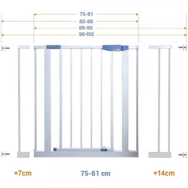 Extensie poarta 14 cm - Baby Safe - Mamakids - Alb 2