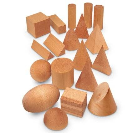 Forme geometrice din lemn (set 19) 0