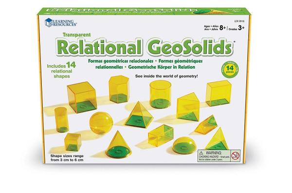 Forme geometrice GeoSolids - 14 piese 0