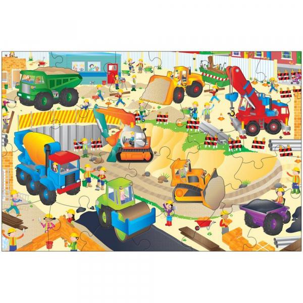 Giant Floor Puzzle: Santierul (30 piese) 0