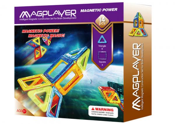 Joc de constructie magnetic - 14 piese 0