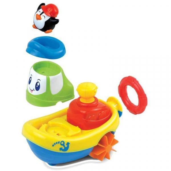 Jucarie pentru baie - Barcuta pinguinului 1