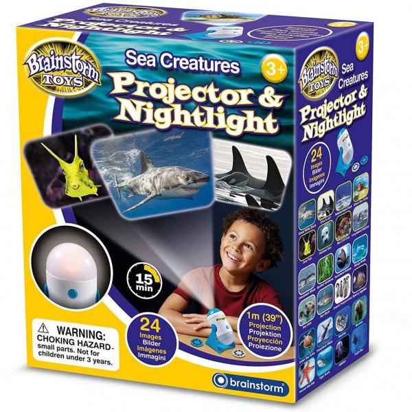 Lampa de Veghe si Proiector Animale Marine Brainstorm Toys E2059 0