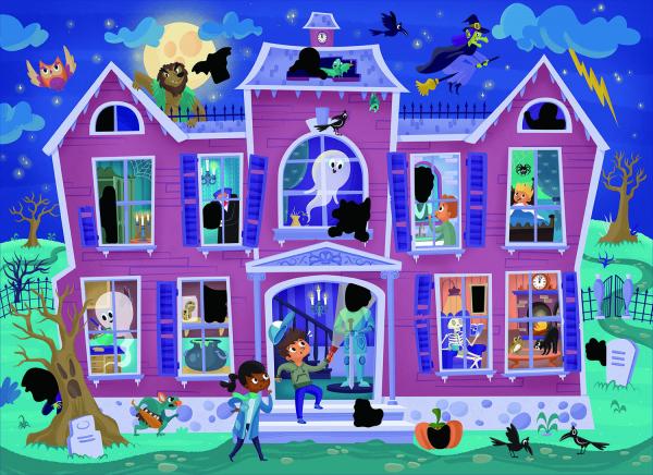 Magic Puzzle - Casa bantuita (50 piese) 2