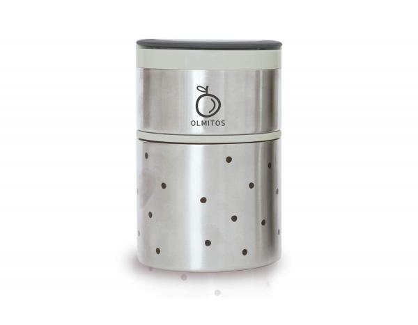 Olmitos - Termos mancare solida cu doua recipiente independente 250+570 ml bej [0]
