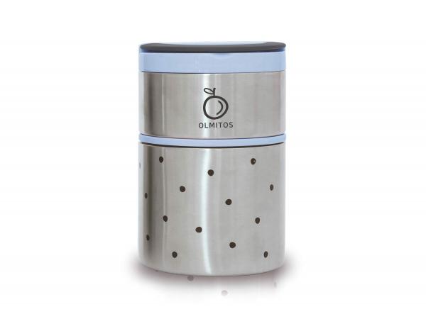Olmitos - Termos mancare solida cu doua recipiente independente 250+570 ml bleu 0