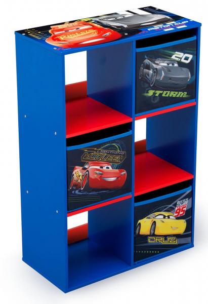 Organizator cu cadru din lemn pentru carti si jucarii Cars Cube 0