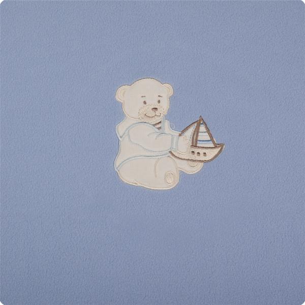 Paturica bebelusi cu Broderie Polar Fleece 90 x 80 cm Womar Zaffiro PT-PF-01 0