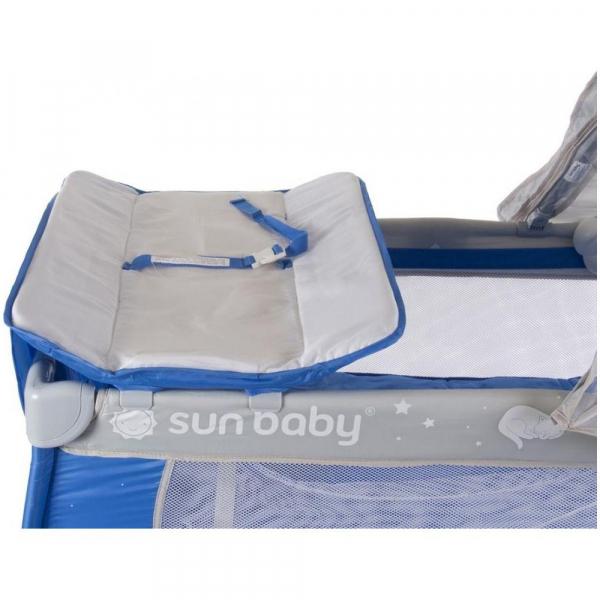 Patut Pliabil cu Sistem de Leganare Sweet Dreams - Sun Baby - Albastru [2]