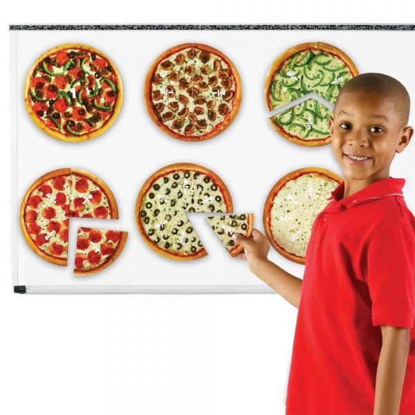Pizza fractiilor cu magneti 1