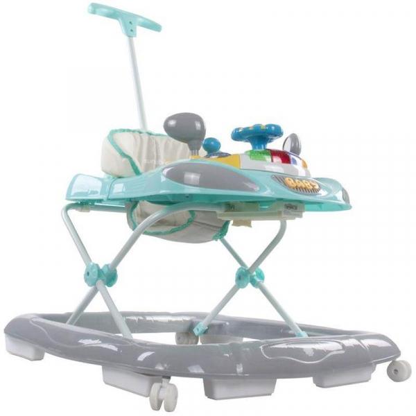 Premergator cu control parental Super Car - Sun Baby - Turcoaz cu Gri 2