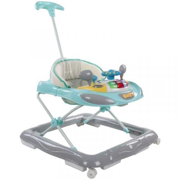 Premergator cu control parental Super Car - Sun Baby - Turcoaz cu Gri 0
